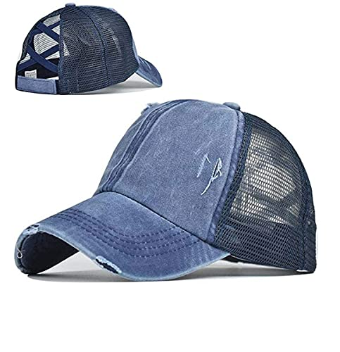 Walea Top Hüte für Frauen Baseball Caps mit Mesh Rücken Trucker Hüte Pferdeschwanz/High Messy Bun...