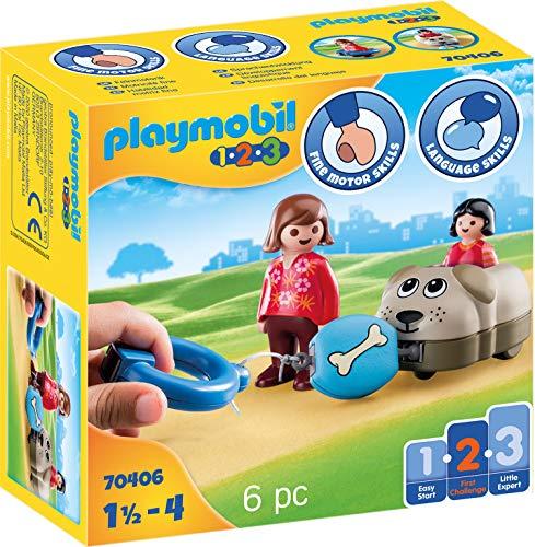 PLAYMOBIL 1.2.3 70406 Mein Schiebehund, Ab 1,5 bis 4 Jahre