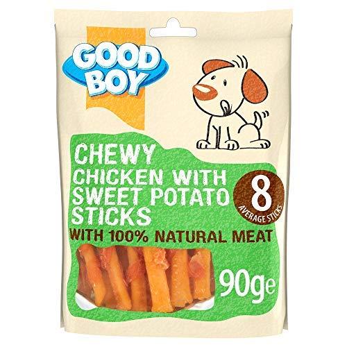 Good Boy - Kauhuhn mit Süßkartoffel-Sticks – Hundeleckerlis – Hergestellt aus 100% natürlichem...
