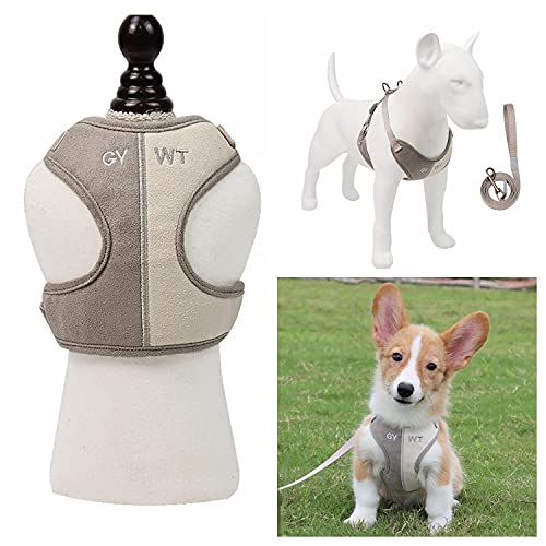 PHENHU Hundegeschirr,atmungsaktive Katzengeschirre,Haustierweste,Geschirr,weiches Plüsch,für...