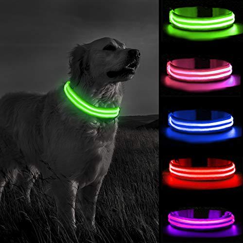 MELERIO LED Leuchthalsband für Hunde USB Aufladbar LED Hundehalsband Stück hundehalsband Leuchtend...