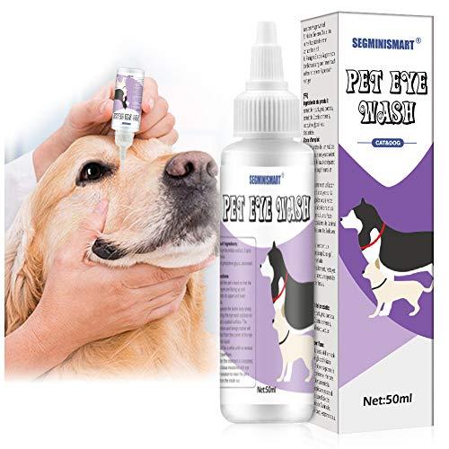 SEGMINISMART Tränenfleckentferner, Augentropfen für Hunde, Hundeaugenreiniger, Tränenfleckentferner...