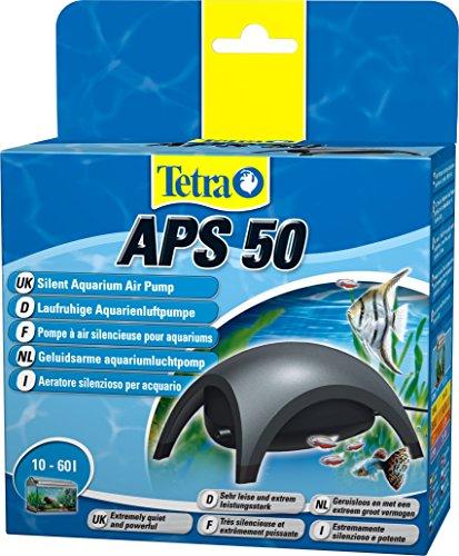 Tetra APS 50 Aquarium Luftpumpe - leise Membranpumpe für Aquarien von 10-60 L, schwarz