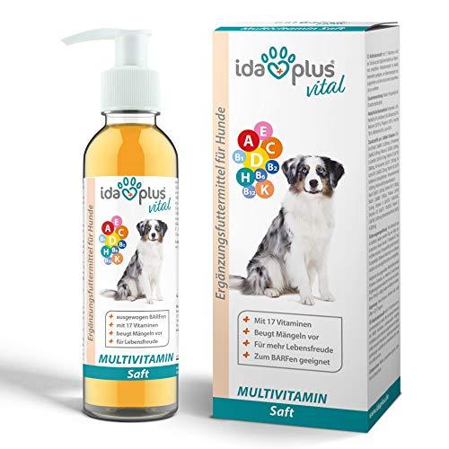 Ida Plus - Multivitamin Saft für Hunde - 200ml - 17 wichtige Vitamine für den Hund - Ideal zum Barfen -...