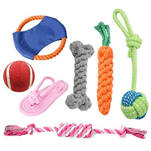 DUTISON Hundespielzeug, 7 Pcs Intelligenz Welpenspielzeug Set, Interaktives Baumwollknoten Spielsachen...