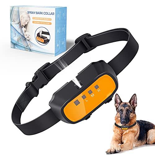 ULTPEAK Anti-Bell-Halsband, stoppt Bellen, Hundehalsband durch Safe Spray & Beep Signal,...