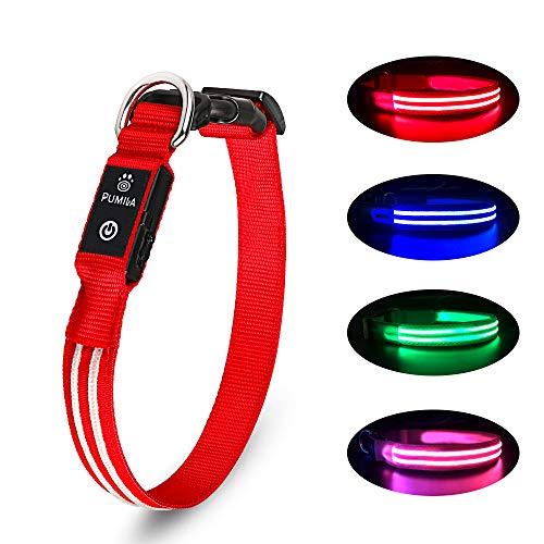 PcEoTllar LED Hundehalsband Wiederaufladbare USB 100% Wasserdichtes Leuchtendes Hunde Halsband...