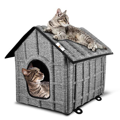 PUPPY KITTY Faltbare Katzenhaus, Outdoor Katzenhöhle für Katzen Winterfest, Katzenhöhle,Haustier Haus...