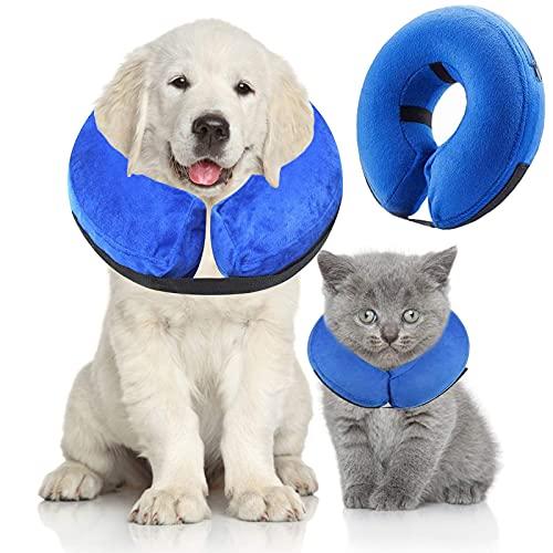 XPuing Hundekragen, Aufblasbares Halsband für Hunde und Katzen Schützender Halskrause Einstellbar...