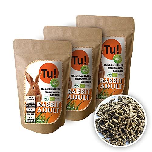 Tu! 100% Bio Rabbit Adult Alleinfutter für ausgewachsene Kaninchen   Tu! 100% Organic Complete Feed for...