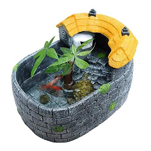 MUMUCW Kreative Tischwasser Kleine Fisch-Behälter-Aquarium Pond Startseite Aquarium Schildkröte Tank