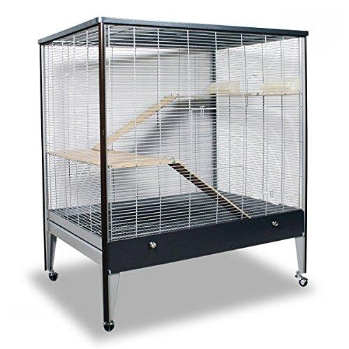 Montana Cages ® | Riesige Nagervoliere Happy Home 99A - Antik-Platinum/Oak Nagerkäfig für Maus & Co.