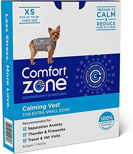 Comfort Zone 330263 Beruhigungswesten für Hunde, bei Gewitter und Ängsten - extra klein, XS