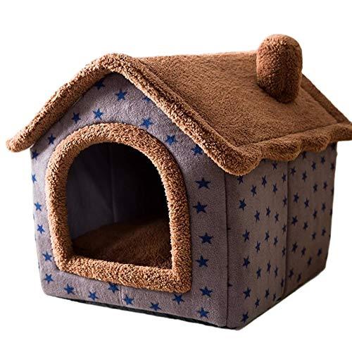 Haustierhaus Im Freien Winter Warm Katzenhaus Villa Herausnehmbares Und Waschbares,hobbydog Hundehütte...