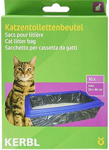 Kerbl 84215 Beutel für Katzentoiletten XL 59 x 46 cm, 10er-Pack