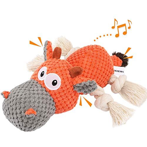 Iokheira Spielzeug für Hunde, Interaktives Hundespielzeug, stabiles Quietschende Hundespielzeuge mit...