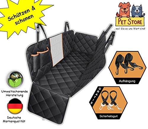 Autoschondecke Hund Katze Schutzdecke Auto Rücksitz Kofferraum Hundedecke Hundeschutzdecke Rückbank...