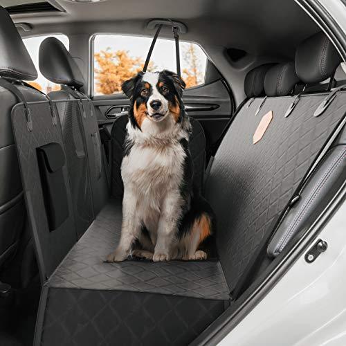 Rudelkönig Autoschondecke für Hunde - Wasserabweisende Hundedecke für Auto Rückbank mit Seitenschutz...