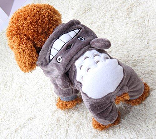 Xiaoyu Warmer Pullover mit Kapuze für Herbst und Winter X-klein Grau