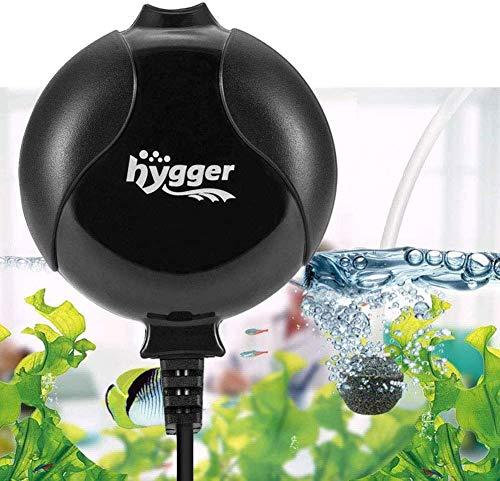 hygger Sauerstoffpumpe für Aquarium, Superleise Aquarium Luftpumpe Geräusch niedriger als 33db 1.5W...