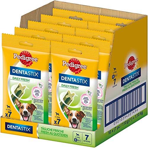 Pedigree DentaStix Daily Fresh Zahnpflegesnack für kleine Hunde – Hundeleckerli mit Aktivwirkstoffen...