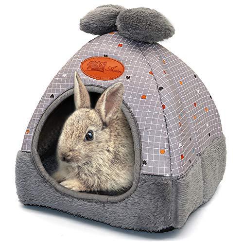 RANYPET Hasenbett für Meerschweinchen, Höhle, Bett, niedliches Schleifenhaus, große Verstecke,...