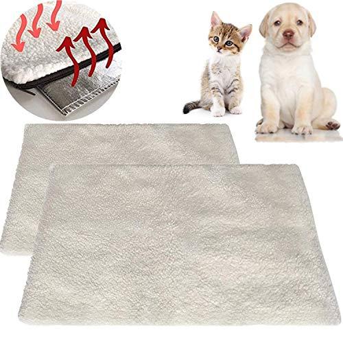 STARPIA 2PCS Selbstheizende Decke für Katzen Hunde, 60x45cm Wärmematte Heizdecke Waschbar, Katzendecke...