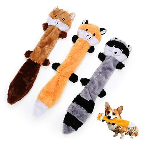 AnCoSoo 3 Pack Hundespielzeug mit Quietschelement,Hund Quietschende Kauen Spielzeug Keine Füllung Hund...