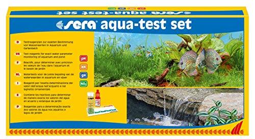 sera 04000 aqua-test set, Test Set fürs Aquarium & den Teich mit den 4 wichtigsten Wassertest pH, GH,...