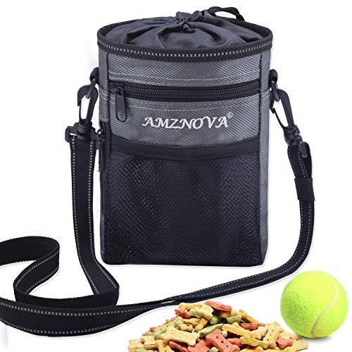 AMZNOVA Futterbeutel Hunde, Futtertasche für Hundetraining, Hunde Leckerlie Beutel mit Mehreren Taschen,...