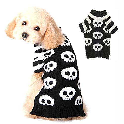 PETCARE Hund Hundepullover Hundepulli Winter Strickpullover Sweater Cardigan Halloween Fasching Kostüme...