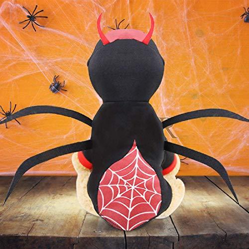 Idepet Haustier Hund Halloween Spinne Kostüm Katzen putzt Sich Haustier Kleidung Anzug für Welpen...