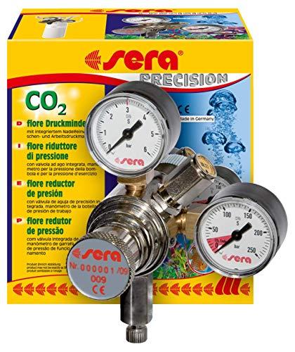 sera 08037 flore CO2-Druckminderer - Präzisionsdruckminderer für CO2-Flaschen mit außen liegendes...