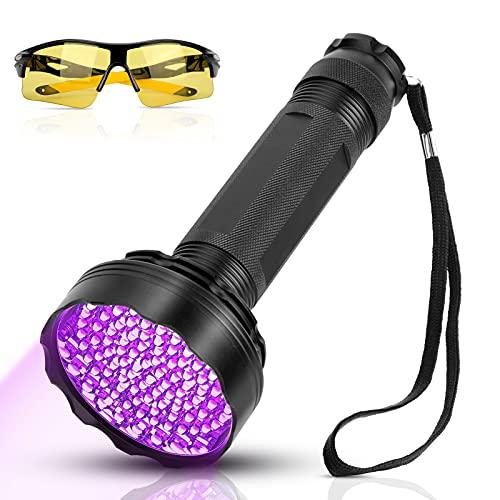 YOUTHINK UV Schwarzlicht Taschenlampe 100 LED Ultraviolett Lampe 395nm | Haustiere Urin-Detektor UV...