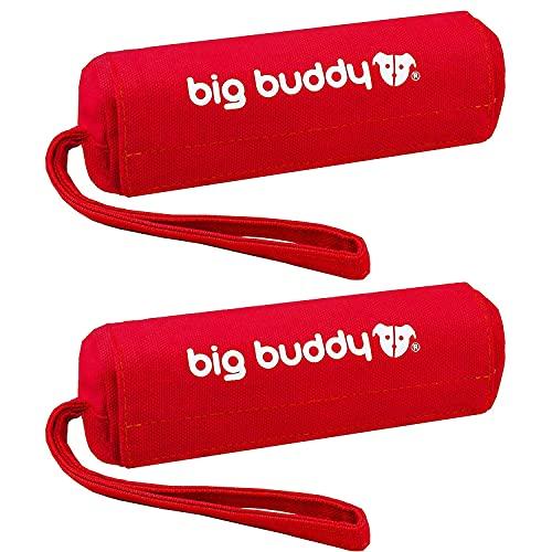 big buddy Canvas Futterdummy, Futterbeutel für Hunde, Apportierdummy zur Hundeerziehung (2X, Rot)