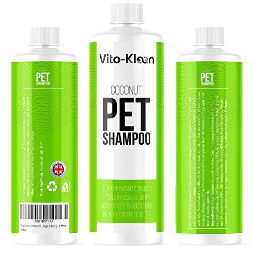 Kokosnuss-Hunde-Shampoo & Conditioner in einem | 1 Liter professionelle Fellpflege | Pflegende &...