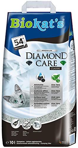 Biokat's Diamond Care Classic ohne Duft - Feine Katzenstreu mit Aktivkohle und Aloe Vera - 1 Sack (1 x 10...