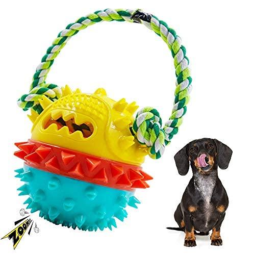 Kauspielzeug für Hunde für aggressive Kauer, quietschendes Welpenkauspielzeug für große und kleine...