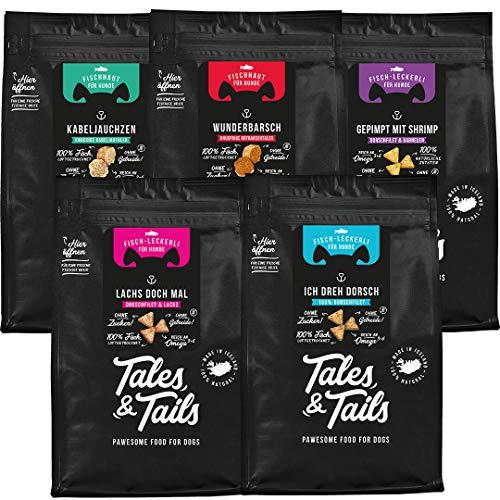 Tales & Tails® - Hunde Leckerlis aus 100% Fisch   Probepaket mit 5 Sorten Hundesnacks   Natürlich,...