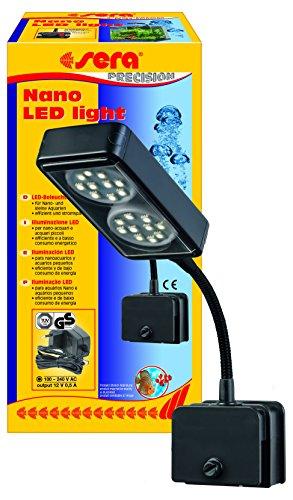 sera 31067 Nano LED light 2x 2W eine LED-Lampe (4W/12V, stufenlos dimmbar) mit schlankem Reflektor zur...