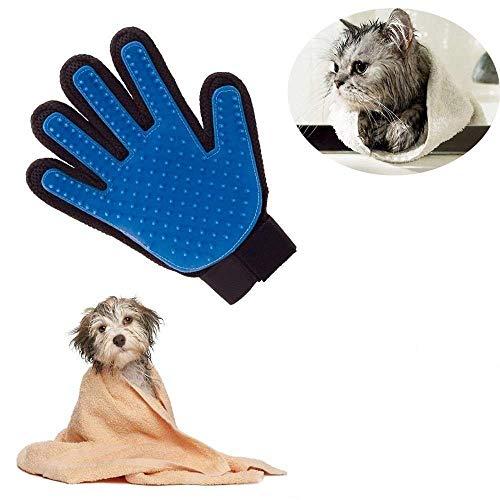 Locisne 2Packs Pet Hund Katze Reinigung Bad Pinsel Handschuh Silikon True Touch für sanfte effiziente...