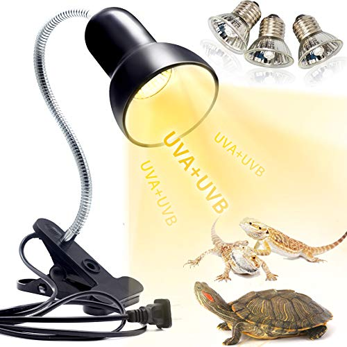 Schildkröten Wärmelampe Reptilien Terrarium Lampe, 25W 50W Reptilien Heizlampe UV Wärmespotlampe E27...