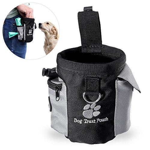 Futterbeutel für Hunde,Trainingsbeutel Hund,UEETEK Oxford Hände Frei Hund Treat Tasche mit Eingebautem...