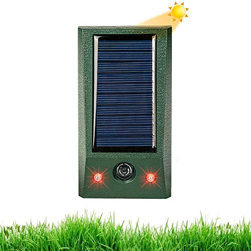 Ultraschall Solar Tiervertreiber, Katzenschreck, Marderschreck bis zu 8m Reichweite, Bewegungsmelder,...