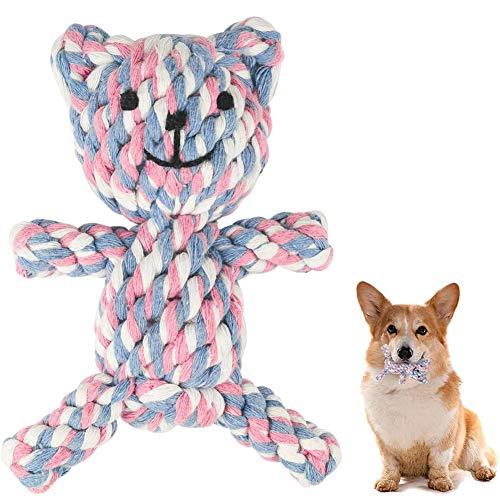 MEKEET Hundespielzeug Hundekauen-Spielzeug-Welpen Langeweile Natürliche Baumwolle Zahnreinigung Chew...