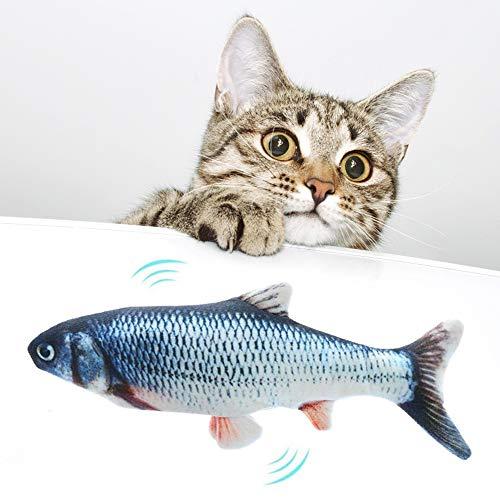 Goglor Elektrisches Katzenspielzeug mit Fischmotiv, interaktives Spielzeug für Katzen, Welpen, Kätzchen