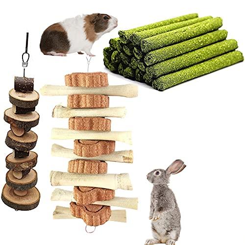 Hasen Kauspielzeug, Hamster Spielzeug, Kaninchen apfelstäbchen, Timothy Heu Sticks, kleintierspielzeug...