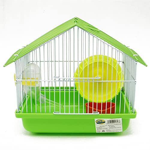 BPS BPS-1327 Mini-Hamsterkäfig für Hamster, mit Futterwanne, Rad, zufällige Farbe, 22,5 x 22,5 x 17 cm