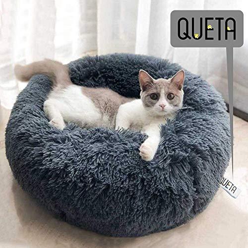 Queta Katzenbett Schöne Tierbett, Klein Hund Bett Haustierbett Plüsch Weich Runden Katze Schlafen Bett...
