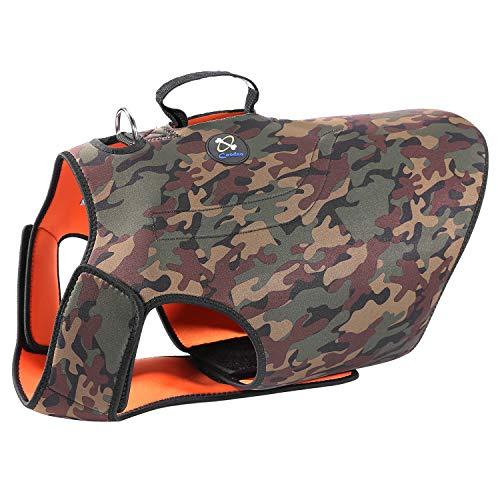 COODEO Hunde-Jagdweste, wendbar, reflektierende Weste, Orange Hound Jacke für Schutz und Sicherheit, 4,5...